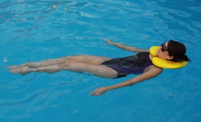 Floating with Nekdoodle Neck Float